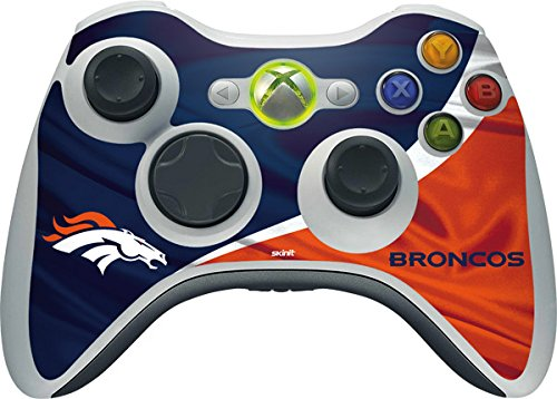 Skinit NFL Denver Broncos Xbox 360 Wireless Controller Skin - Denver Broncos Design - Ultra Thin, Lightweight Vinyl Decal Protection (Xbox 360 Official Nfl)