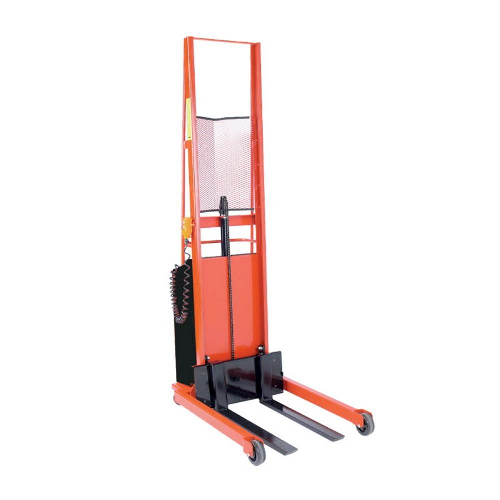 Wesco Industrial Products 261030 Fork Model Battery-Powered Stacker, 1000-lb. Load Capacity, 76'' Lift Height, 44.5'' L x 25.5'' W x 92'' H