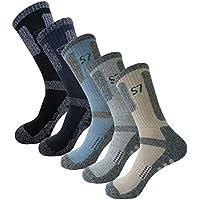 5Pack Bio pantalones de escalada drycool Cojín Senderismo/rendimiento Crew–Calcetines