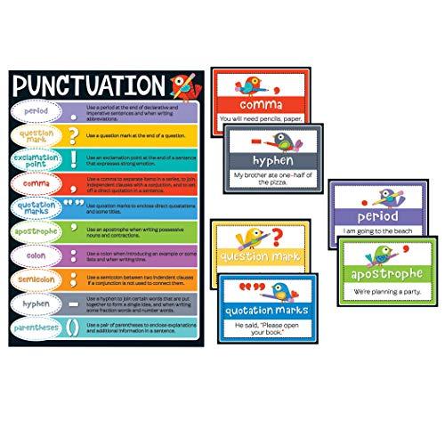Carson Dellosa Boho Birds Punctuation Bulletin Board Set (110298)