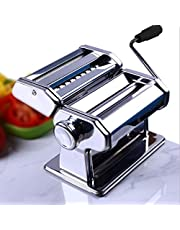 Eloklem Máquinas para Pasta Manuals 3 en 1, fabricación de Fideos extraíbles de Acero Inoxidable con 2 Cuchillas de Corte y Mango de Brazo extraíble para Fettuccine, Espagueti linguini (Plata)