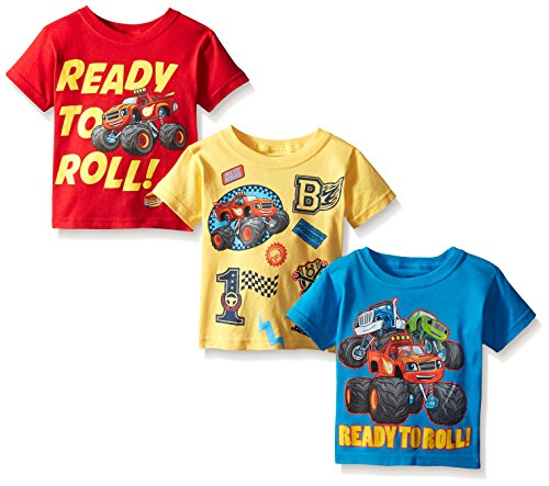 Problems Toddler T-shirt - Blaze and the Monster Machines Toddler Boys' 3-Pack T-Shirt Shirts, Multi, 5T