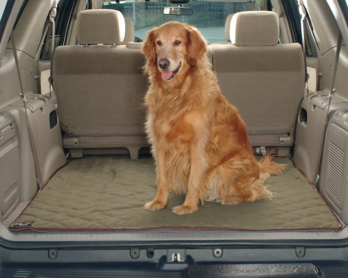 PetSafe Solvit Deluxe SUV Cargo Liner, Cargo Area Liner for SUVs, Great for Protecting Against Dog (Sand Cargo Mat)