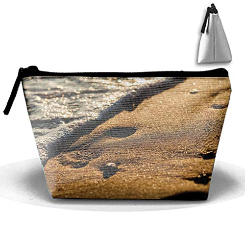 One Handle Seashore - Earth Beach Sand Seashore Makeup Pouch with Top Handle for Men and Women