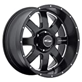 Pro Comp Alloys Series 83 Vapor Matte Black Wheel with Milled Accents (17x9