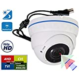 Evertech 960P 4 in 1 Security Cameras HD Indoor Outdoor Surveillance Camera Systems with IR LED Day Night vision 2.1MP Metal Dome home surveillance system