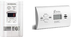 Kidde AC Plug-in Carbon Monoxide and Explosive Gas Detector Alarm   Nighthawk Sensor Technology   Model # KN-COEG-3 & Carbon Monoxide Alarm Detector   Digital Display   Battery Operated