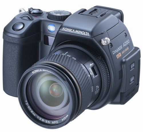 - Konica Minolta Dimage A200 8MP Digital Camera with Anti-Shake 7x Optical Zoom
