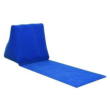 perfk 1 Piece Camping Lounger Colchones de Aire para Acampada Perfecto para Deporte Exteriore Césped - Azul: Amazon.es: Deportes y aire libre