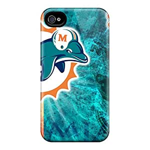 Iphone 4/4s Ujx1476PSDD Provide Private Custom Attractive Miami Dolphins Series Scratch Protection Cell-phone Hard Cover -DannyLCHEUNG