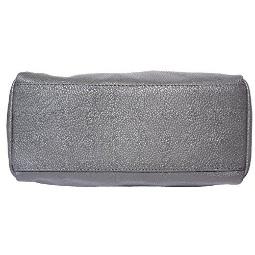 Bandoullière Main Leather Une 9141 Sac Avec Foncé Seule Market Et Gris Poignèe À Florence TqIYdwY