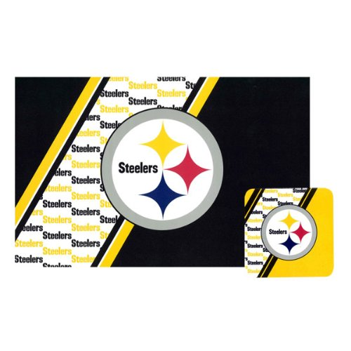 Steelers Placemat/Coaster Set (4 Of Each) by PrivateLabel