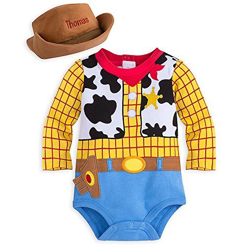 [Disney Woody Costume Bodysuit for Baby - Size 18-24 MO Yellow] (Woody Toy Story Costume Baby)