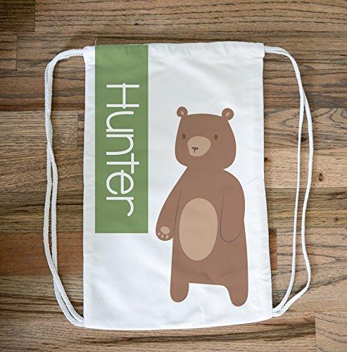 Bears Duffle - Bear Drawstring Bag Pack Cinch Bag - Personalized Bear Beach Bag Pack Rucksack for Girls, Bear Gifts, Kids Swim Bag, Pool Bag, Bear Drawstring Backpack for Girls, Bear Tote Bag and Duffle Bag