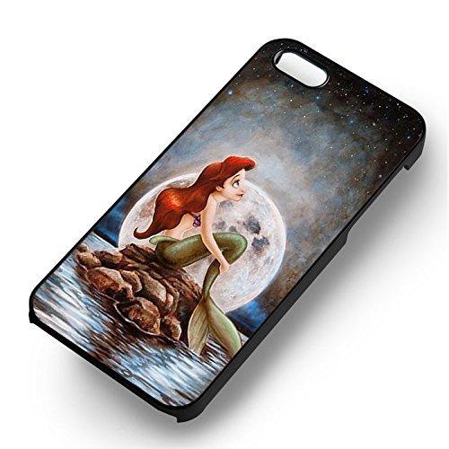 Amazing Mermaid Art Paint pour Coque Iphone 6 et Coque Iphone 6s Case (Noir Boîtier en plastique dur) K5C8DI
