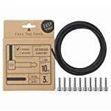 Free The Tone Pedal Board Solderless Cable Kit 10 Nickel Plugs (10L) 3M/9.8ft