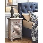 Ashley Furniture Signature Design – Charlowe Nightstand – Vintage Casual – White Wash