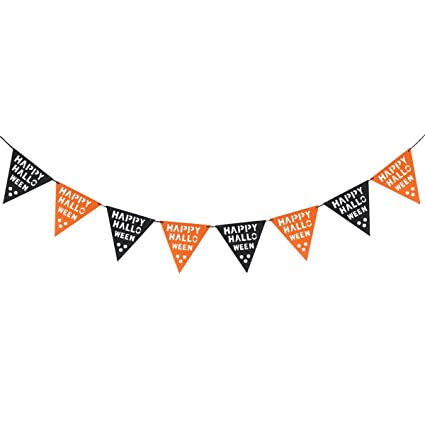 Tinksky HAPPY HALLOWEEN Triangle Bunting Banners Garland Flags Pennant Door Wall Decorative Hanging Ornaments Halloween Bar  sc 1 st  Amazon.com & Amazon.com: Tinksky HAPPY HALLOWEEN Triangle Bunting Banners Garland ...