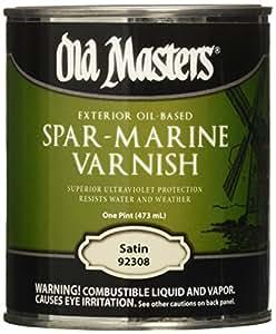Old Masters 153617 92308 Spar-marine Varnish, Satin, 1 pint
