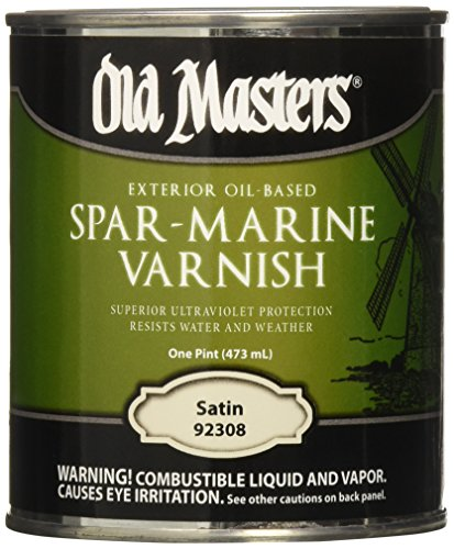 Old Masters 153617 92308 Spar-Marine Varnish, Satin, 1 - Exterior Varnish Spar