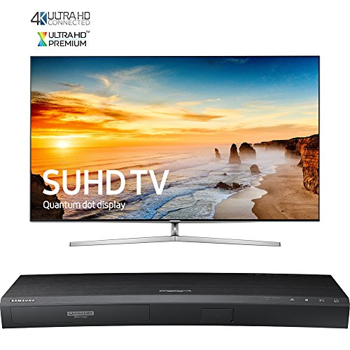 Samsung 65-Inch 4K SUHD Smart LED TV w/ Ultra-Slim Bezel - KS9000 9-Series (UN65KS9000FXZA) with Samsung 3D Wi-Fi 4K Ultra HD Blu-ray Disc Player