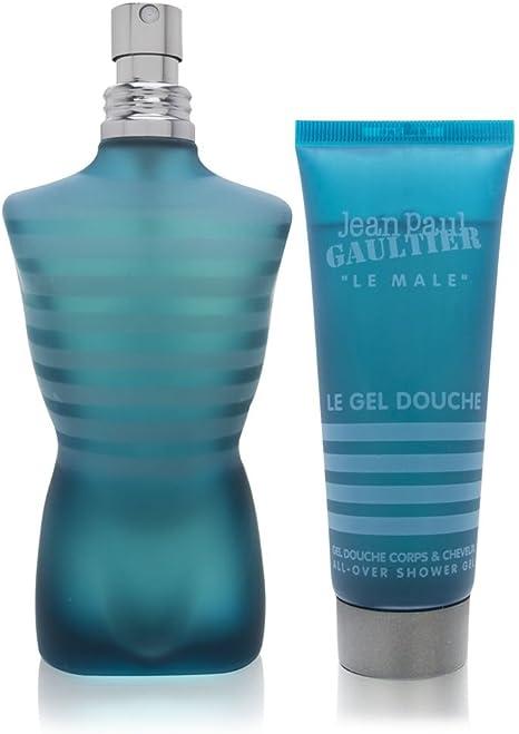 Le male Eau de Toilette 125 ml + Gel de baño 75 ml de Jean Paul Gaultier, Hombre – Estuche: Amazon.es: Belleza
