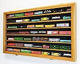 N Scale Train Model Trains Display Case Cabinet Wall Rack w/ 98% UV Lockable -Oak