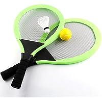 NUOLUX Badminton Tennisschläger Set mit Tennisball für Kinder (zufällige Farbe)