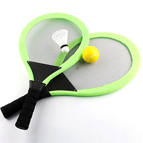TOYMYTOY Badminton Tennis Rackets and Ball Set Kids Play Game Toy Random Color (Racket Plastic Tennis)