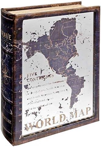 The Look - Caja de Almacenamiento con diseño de Mapa del Mundo con Espejo: Amazon.es: Hogar