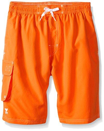 - TYR Men's Solid Challenger Swim Shorts, Orange, Large
