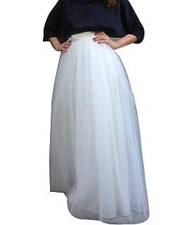 las mujeres falda de tul larga Tutus Ballet de Underskirt con el cinturón elástico para boda