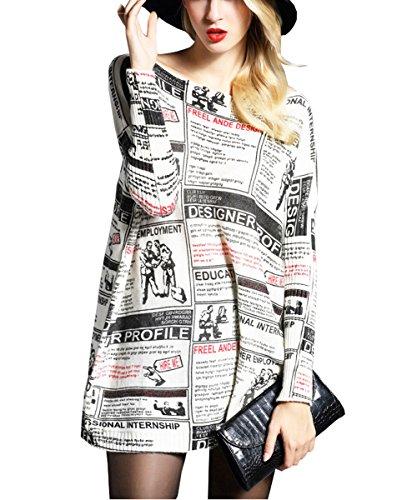newspaper printed dress - 1
