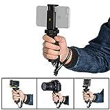 Fantaseal Ergonomic Smartphone Handhled Grip Stabilizer Holder for Apple iPhone Grip Stabilizer Support Cellphone Handle Selfie Stick for iPhone etc w/Cellphone Clip (3.5''-5.7'')-Improved Version