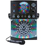 Singing Machine SML385UBK Bluetooth Karaoke System with LED...