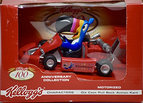 - 2006 - Way Out Toys - Kellogg's 100th Anniversary Collection - Toucan Sam / Froot Loops Die Cast Pull Back Action Kart - OOP - New