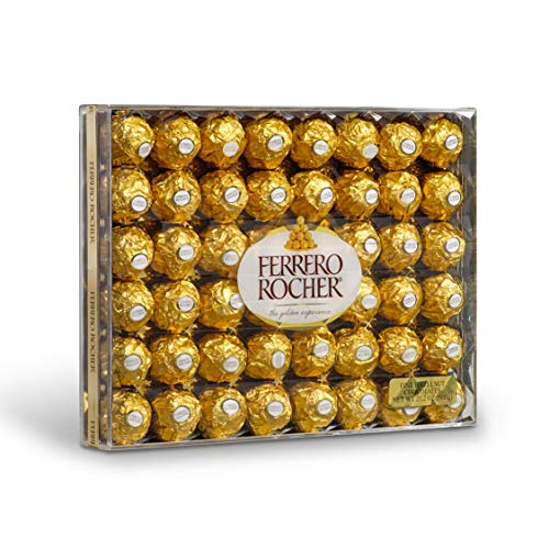 Large Product Image of Ferrero Rocher Fine Hazelnut Chocolates, Chocolate Gift Box, 48 Count Flat, 21.2 oz