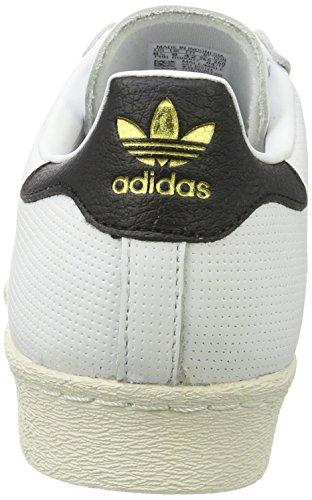 adidas Unisex-Erwachsene Superstar 80s Gymnastikschuhe Elfenbein (Footwear White/core Black/core Black)