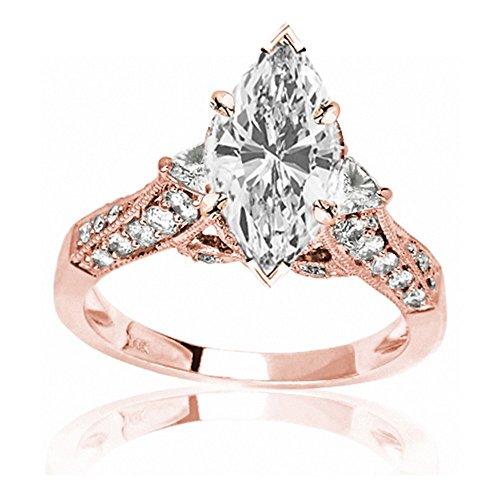0.53 Ct Marquise Diamond - 6