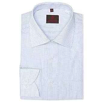 Louis Feraud White & Blue Shirt Neck Shirts For Men