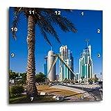 3dRose Danita Delimont - Qatar - Qatar, Doha, Doha Bay, West Bay Skyscrapers, morning - 15x15 Wall Clock (dpp_257263_3)