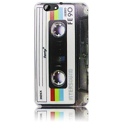HTC ONE A9S Cassette casete Funda protectora de silicona Funda protectora suave Funda protectora contra el parachoques Funda protectora para teléfono móvil Funda protectora para teléfono móvil Funda p Cassette casete