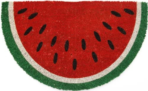 Entryways P969 Watermelon Non- Slip Coconut Fiber Small Doormat, 17 x 28 x .5 , Multicolor