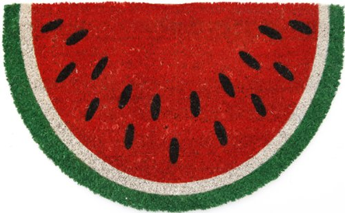 Entryways P969 Watermelon Non- Slip Coconut Fiber Small Doormat, 17