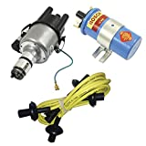 SCREAMER KIT YELLOW, WITH EMPI 9441-B ELECTRONIC 009 DISTRIBUTOR & BOSCH BLUE COIL, FOR VW BUG, BEETLE, GHIA, BUS, TYPE 3