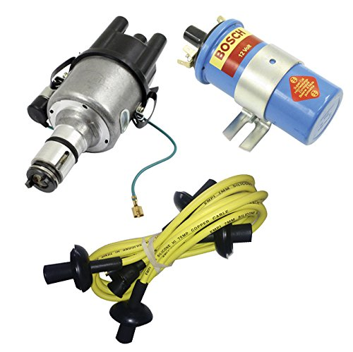 (SCREAMER KIT YELLOW, WITH EMPI 9441-B ELECTRONIC 009 DISTRIBUTOR & BOSCH BLUE COIL, FOR VW BUG, BEETLE, GHIA, BUS, TYPE 3)