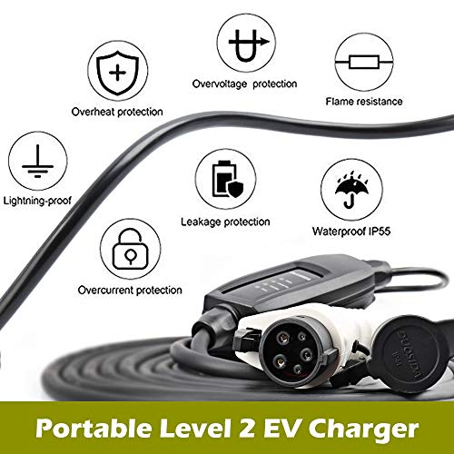 DUOSIDA Level 2 EVSE Portable Electric Vehicle Charger (240V, 16A) - Faster Charging Speeds by DUOSIDA (Image #3)