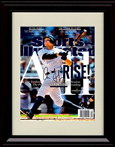 Mvp Autograph - Framed Aaron Judge Sports Illustrated Autograph Replica Print - MVP and Roy Candidate!