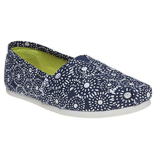 TOMS Women's Seasonal Classics Navy Shibori Dots Loafer SEASONAL CLASSICS