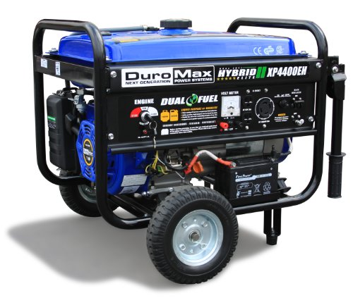 DuroMax XP4400EH, 3500 Running Watts/4400 Starting Watts, Dual Fuel Powered Portable (Dual Generator)